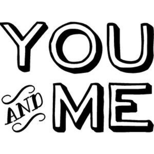 Rub-On Vinyl- You and Me (white)