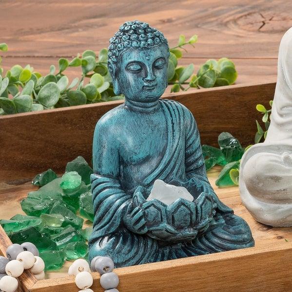 5X4X7 inch Buddha with Tea Light Holder