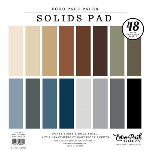 Neutrals Solids 12 inch x 12 inch Paper Pad