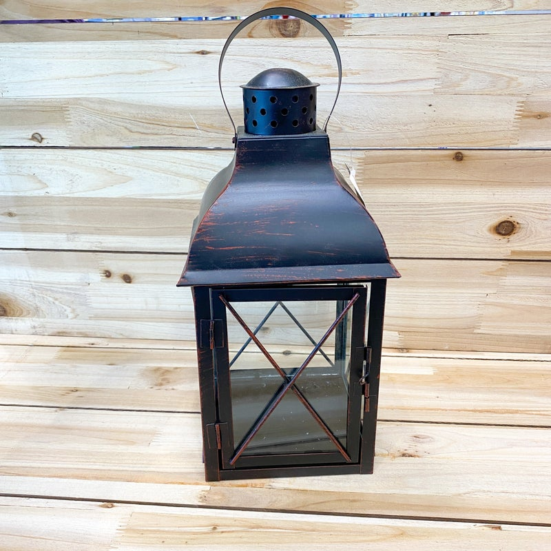 Black Metal Frame Lantern