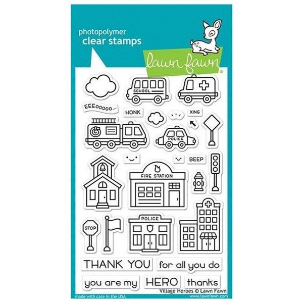 Village Heros Stamp Set, Lawn Fawn