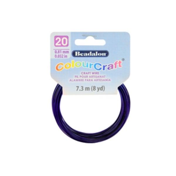 ColourCraft Wire- 20GA Dark Blue Coil 8yd
