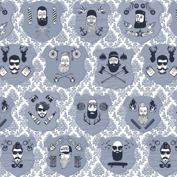 1 Yard Cut - Chop It Like It's Hot Portraits White - Dear Stella Fabrics