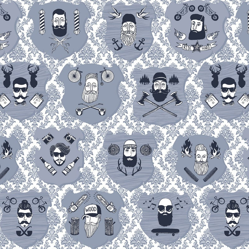 1 Yard Cut - Chop It Like It's Hot Portraits White - Dear Stella Fabrics