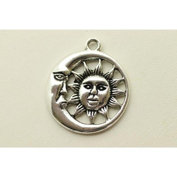 Pendant- Sun and Moon, Silver