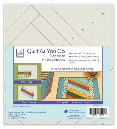 June Tailor Quilt as you Go Placemat - Jakarta