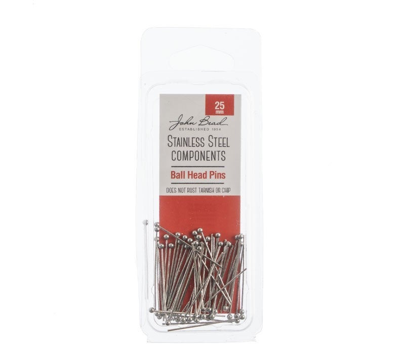 Stainless Steel- Ball Head Pins 25mm, 50pcs