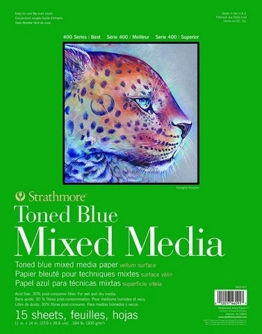 Strathmore Tone Blue Mixed Media Pad - 9-inch x 12-inch
