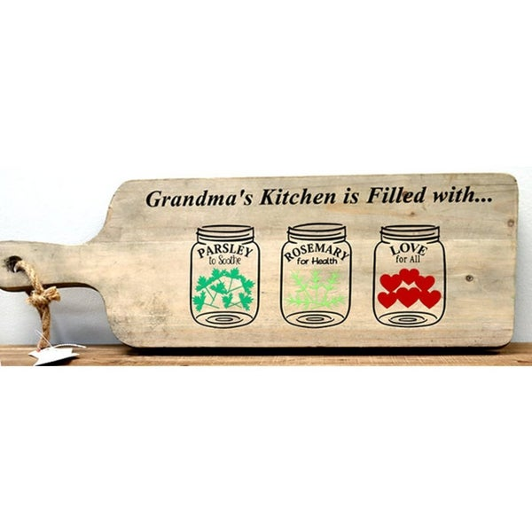 Rub-On Vinyl- Grandma's Kitchen Is Filled With..