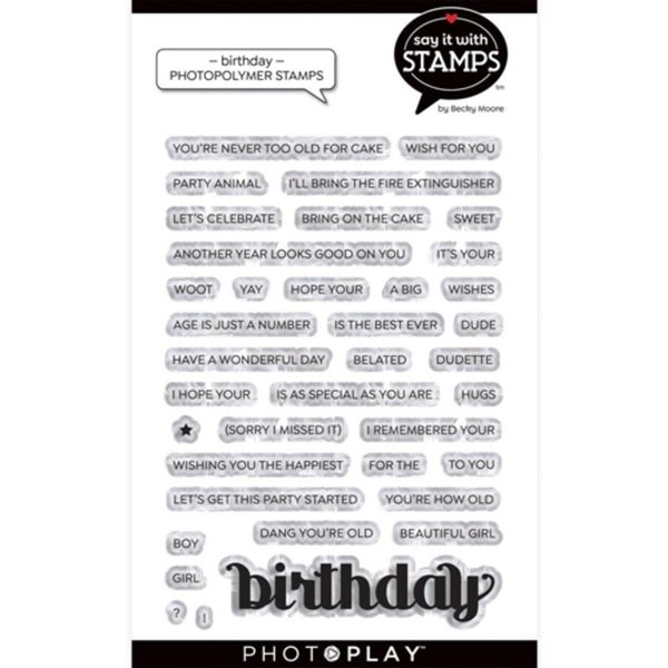 PhotoPlay- Birthday Stamp Set