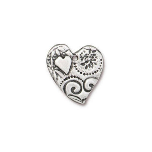Amor Pendant, Antiqued Pewter- Tierra Cast
