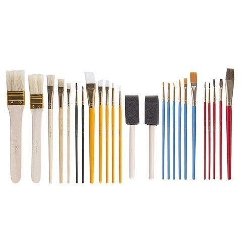 Paint Brush Set, 25 Pieces