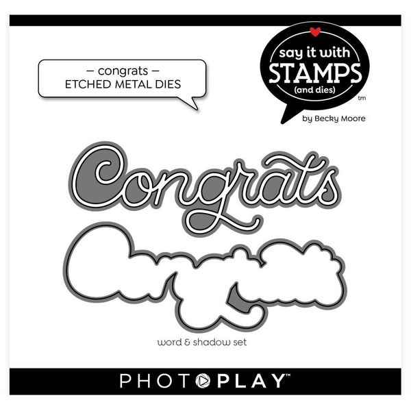 PhotoPlay- Congrats Die Set