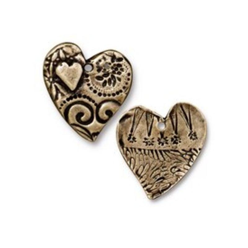 Amor Pendant, Oxidized Brass Plate- Tierra Cast