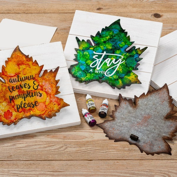Alcohol Ink Leaf Project - At Home Make and Take