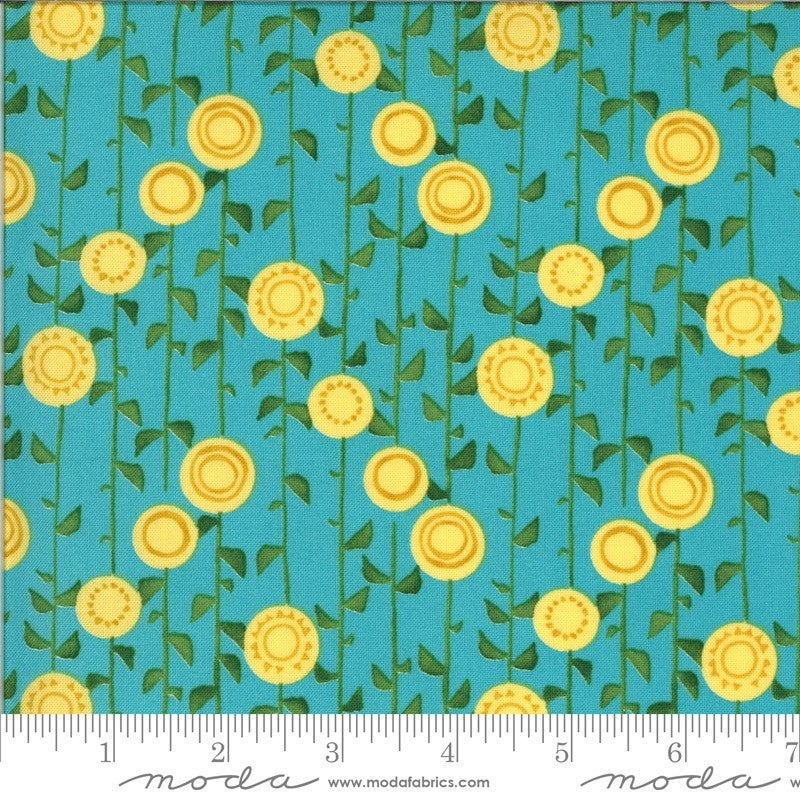 1 Yard Cut - Solana Collection Stalks Pond - Designed by Robin Pickens for MODA Fabrics