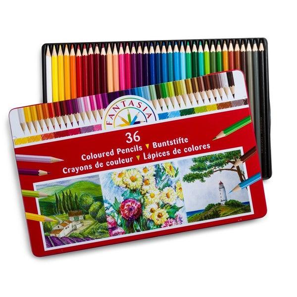 36 ct Colored Pencils in Tin Storage Case