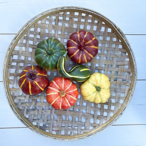 Fall Harvest Pumpkin Filler-Orange, Yellow, and Green
