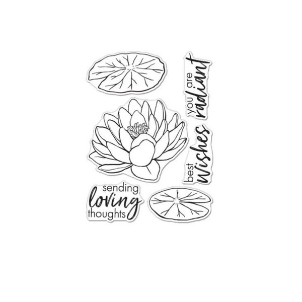 Hero Arts- Floral Lotus Stamp Set