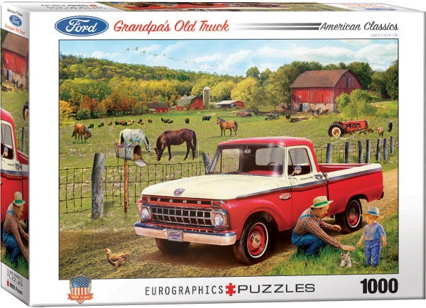 Grandpa's Old Truck (1965 Ford F-100) by Greg Girdano 1000-Piece Puzzle