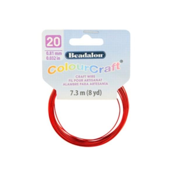 ColourCraft Wire- 20GA Red Coil 8yd