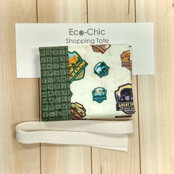 National Parks Eco-Chic Tote Kit, Badges and Park Signs