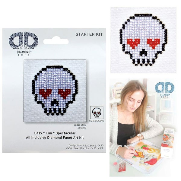 Diamond Dotz Facet Art Kit Starter Sugar Skull