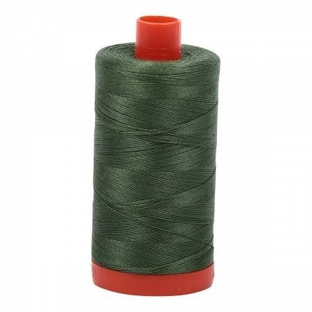 Aurifil Thread 50wt Cotton 1422 yard, Very Dark Grass Green