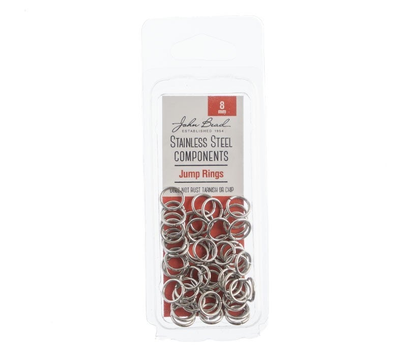 Stainless Steel- Jump Ring 8mm, 100pcs
