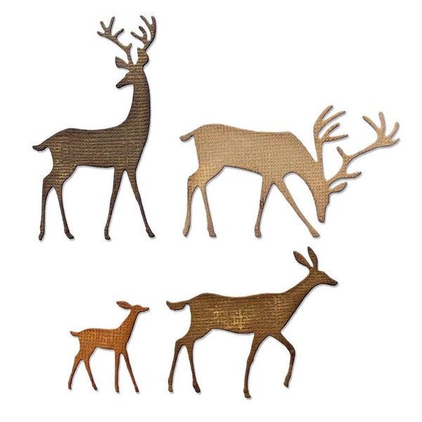 Darling Deer Die cut set 4pc