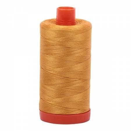 Aurifil Thread 50wt Cotton 1422 yard, Orange Mustard