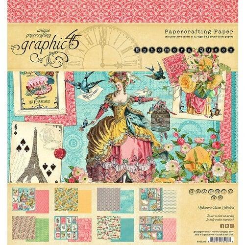 Ephemera Queen 8x8 Paper Pad- Graphic 45