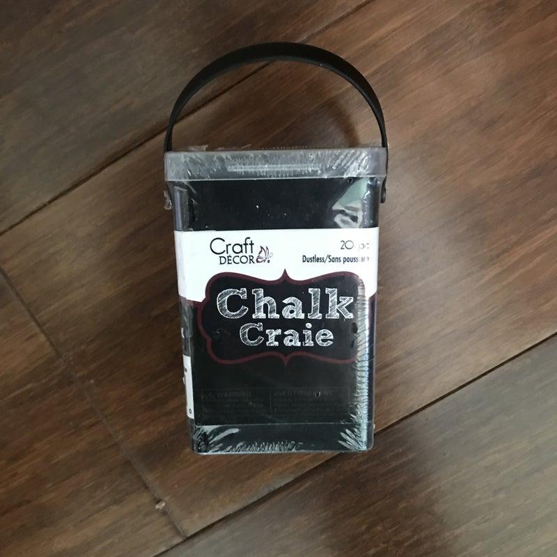 White Dustless Chalk, 20 Pieces