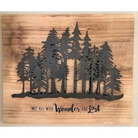 Not All Who Wander Are Lost Wall Art Project Box