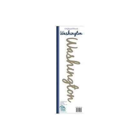 Chipboard Shapes- Washington word