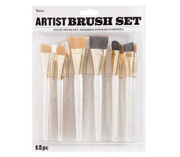 Artist Brush Set: Assorted Sizes, 12 pack