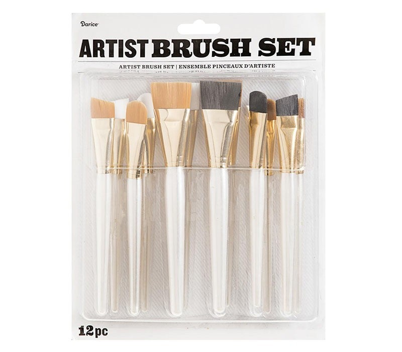 Artist Brush Set: Assorted Sizes, 12 pack