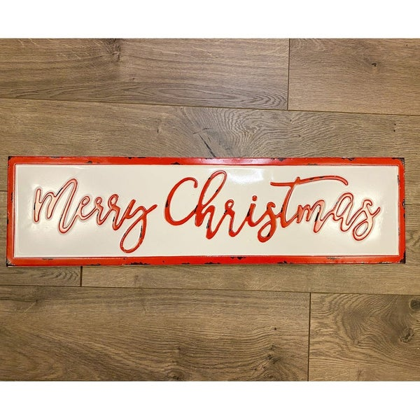 Enamel Merry Christmas Sign