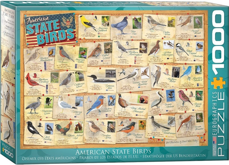 American State Birds 1000-Piece Puzzle