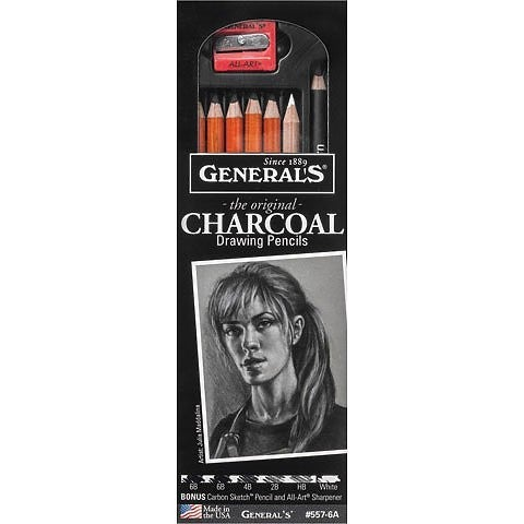 General's Pencil Charcoal Drawing Set