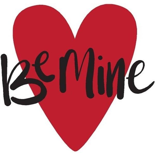 Rub-On Vinyl- Be Mine Heart