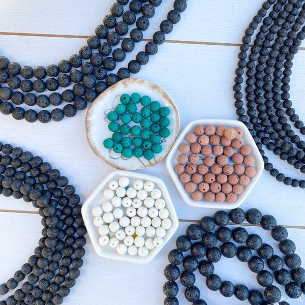 Aromatherapy Lava Bead Strands (Multiple Size and Color Available)