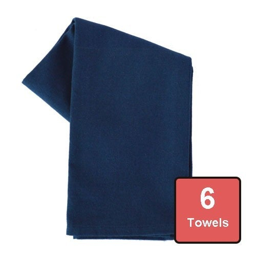 Navy Blue Cotton Tea Towels 6pc