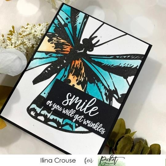 Picket Fence Studios- Swallowtail Beauty Stamp Set