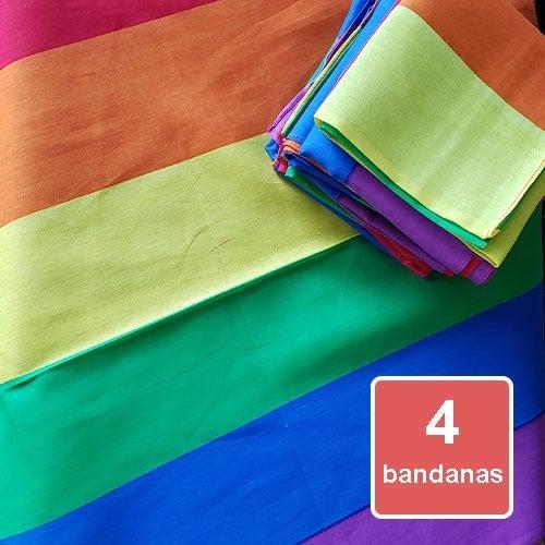 Bandanas - Rainbow 4 Pack