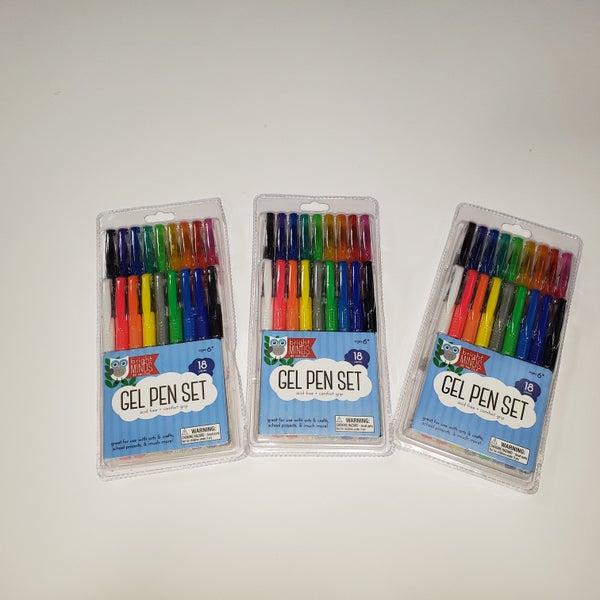 3 Packs Gel Pen Set 18 Piece - 3 Packs Bundle Pack (54 Pens)