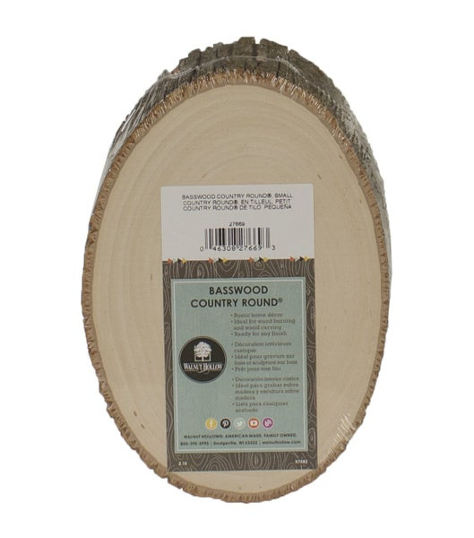 "Walnut Hollow Basswood Country Round 7"" to 9"""