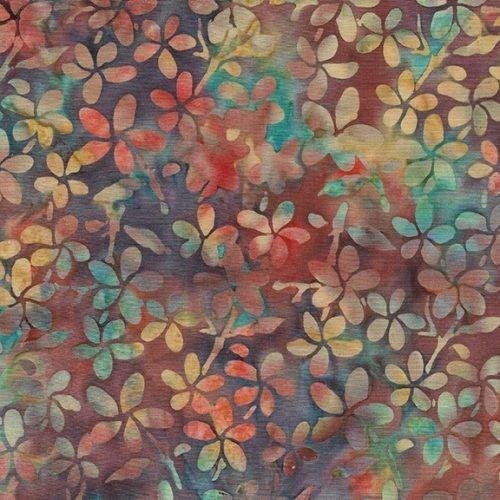 1 Yard Cut - Coco Cabana Batik Plumeria, Fall Fusion