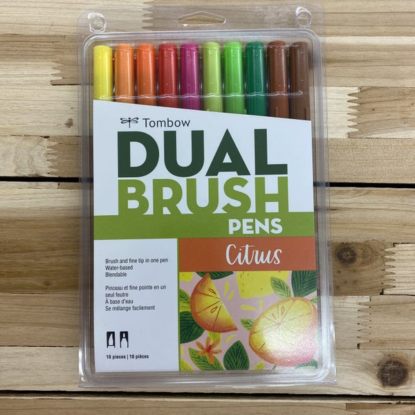 Tombow Dual Brush Pen, Citrus Palette, 10pcs