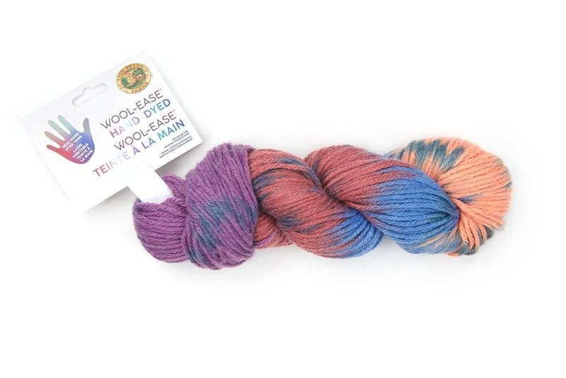 Lion Brand, Wool-Ease® Hand Dyed Yarn- Peach Bellini